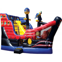 Pirate Ship Combo Bouncy Castle