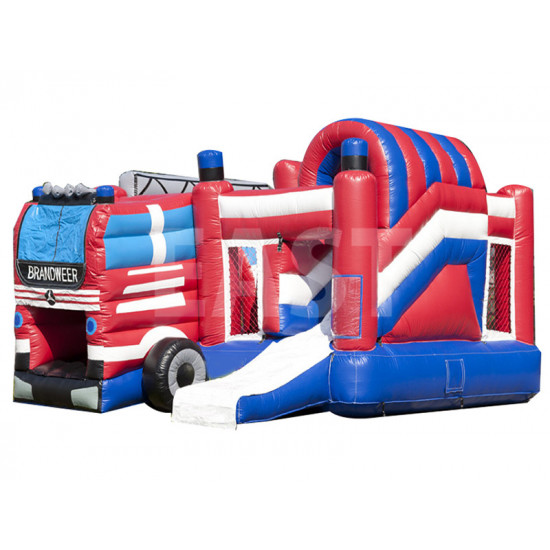 Fire Department Inflatable Bounce House Slide