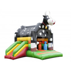 Cow Inflatable Bounce House With Slide
