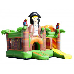 Pirate Bounce House With Slide