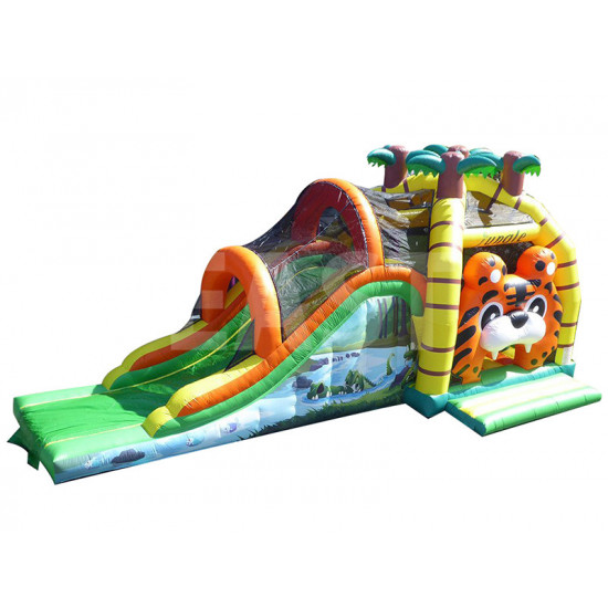Jungle Bounce House With Slide