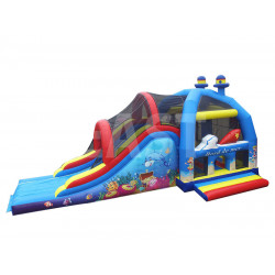 Sea Bounce House With Slide
