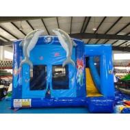 Dolphin Combo Bouncy Castle