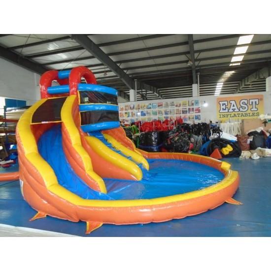Inflatable Kiddie Pool With Slide